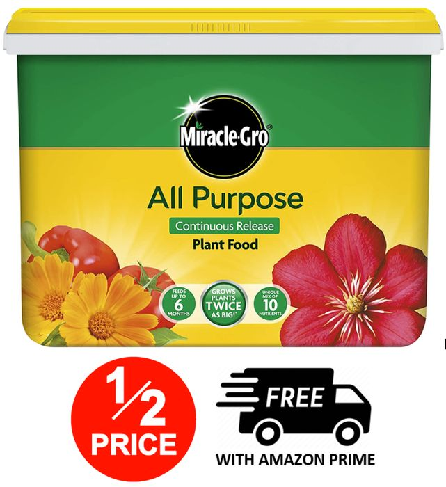 Miracle-Gro Continuous Release Plant Food 2 Kg Tub at Amazon