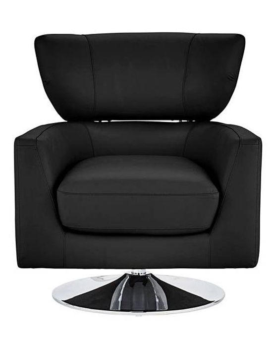 San Remo Leather Swivel Chair