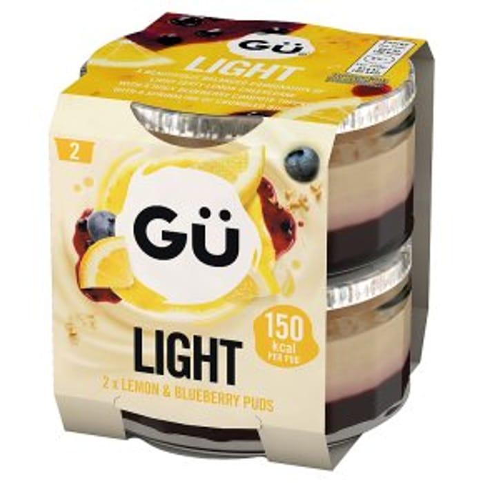 G Light Lemon & Blueberry 2x77g
