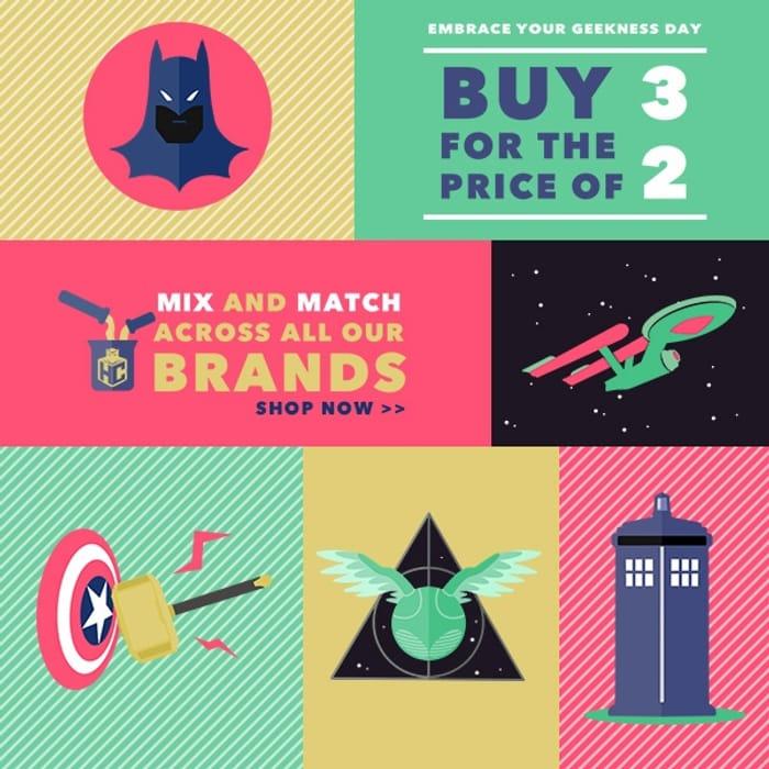 3 for 2 across All Brands!