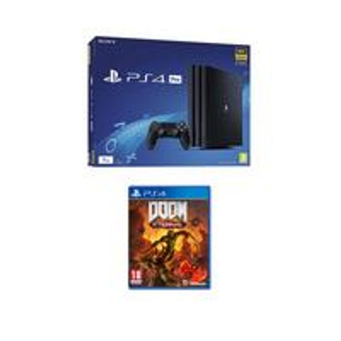 PS4 Pro with Doom Eternal and Optional Extras - 1TB Console Only £389.99