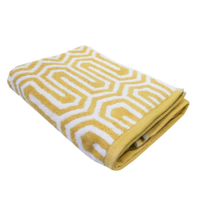 Anholt Yarn Dyed Towel Range - Ochre