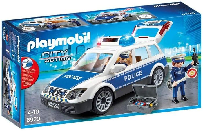 SAVE £8 - Playmobil Police Car with Light & Sound Effects (6920) FRED DELIVERY