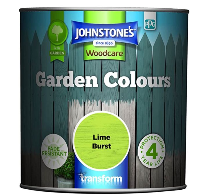 Johnstone's Garden Colours Paint, Lime Burst, 1 Litre.