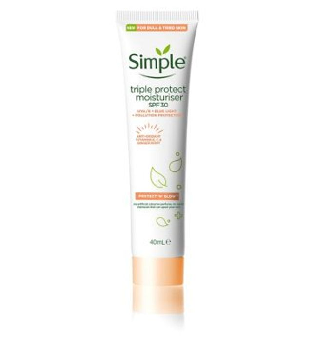 Simple Protect & Glow Triple Protect SPF30 With Code SAVE3ONLINE