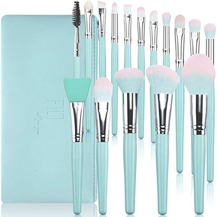 6 Pcs Premium Synthetic Make up Brushes (Blue)