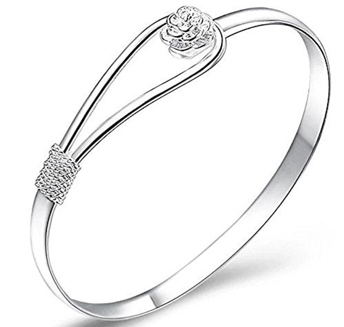 Plated 925 Silver Sterling Silver Solid Bracelet Free Delivery