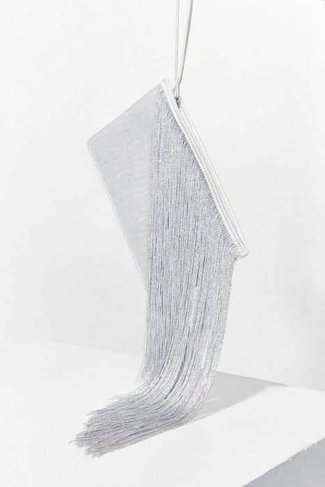 WANT Moon River Fringe Clutch Bag
