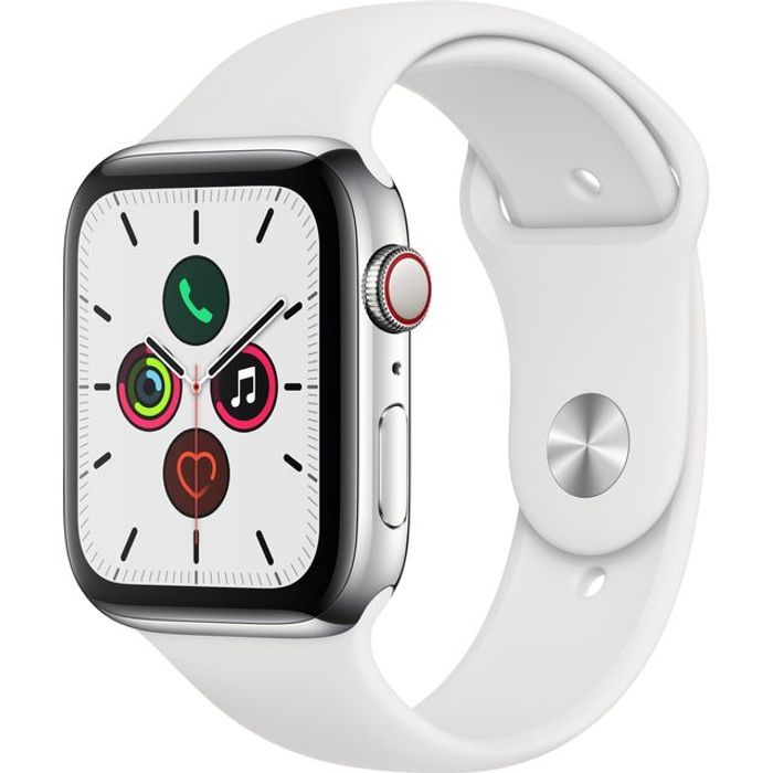 *SAVE £17* Apple Watch Series 5 44mm, GPS + Cellular [2019] Silver S/Steel