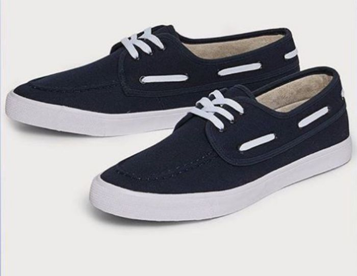 Navy Lace-up Boat Shoes, Only £10 Delivered with Code - SAVE £19