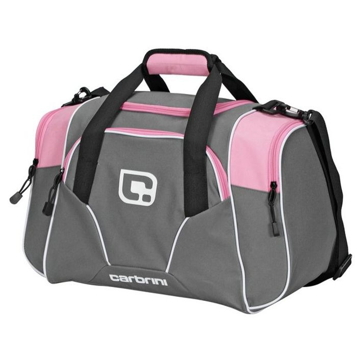 Carbrini No Doubt Small Grey and Pink Holdall