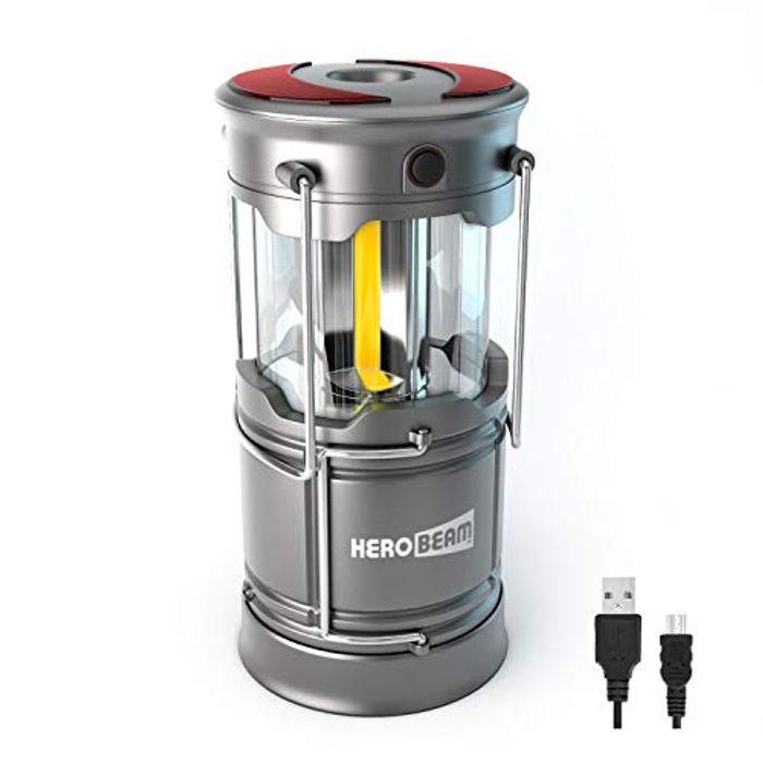 HeroBeam V3 LED Rechargeable Lantern - the Ultimate Collapsible Tough Lamp