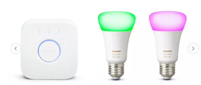 Philips Hue White & Colour Ambiance Smart Bulb Starter Kit - £59.99