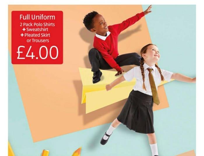 Aldi £4 School Uniform Bundle - Buy Online Now