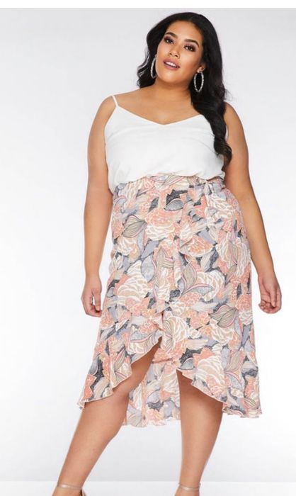 Quiz Clothing Wrap Style Skirt