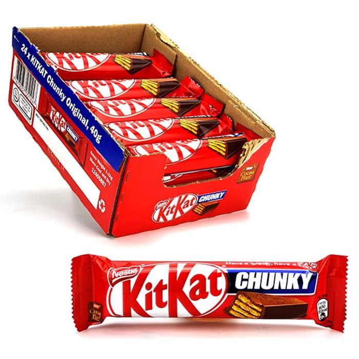 Great Value 24 X Kit Kat Chunky Original 40g Standard Chocolate Bars