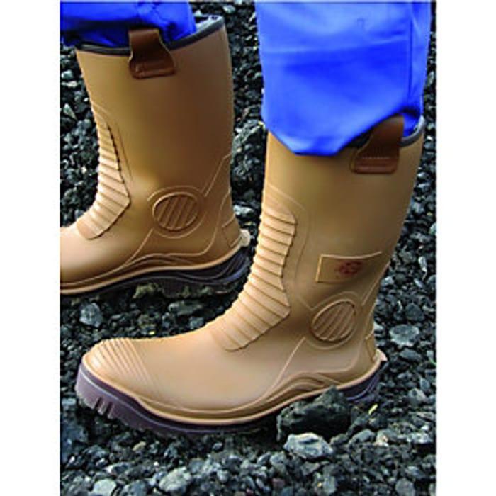 Dickies Safety Wellington Boot - Tan