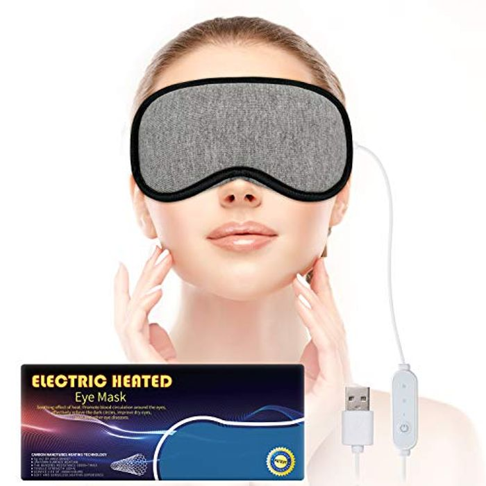 Save 40% on Heated Eye Mask with Time and Temperature Control for Dry Eyes
