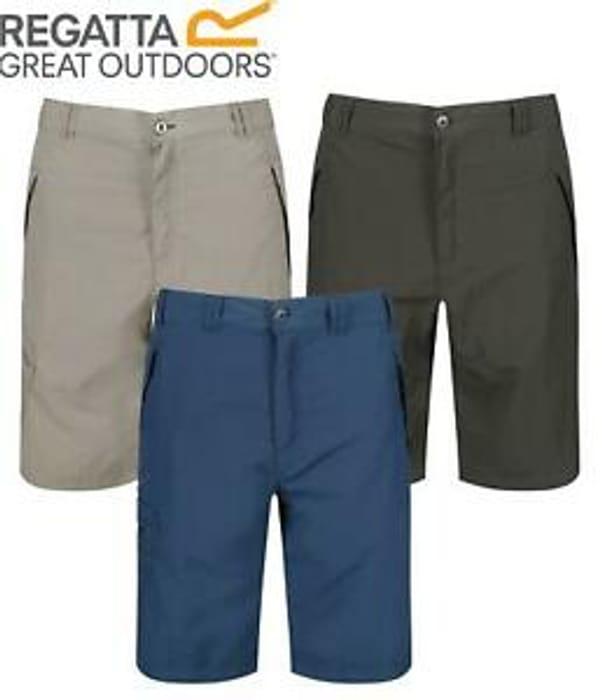 Regatta Leesville Mens Quick Dry Cargo Walking Short Lightweight Zipped Pockets