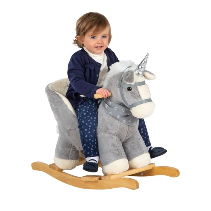 Babylo Baby Rocking Unicorn Grey