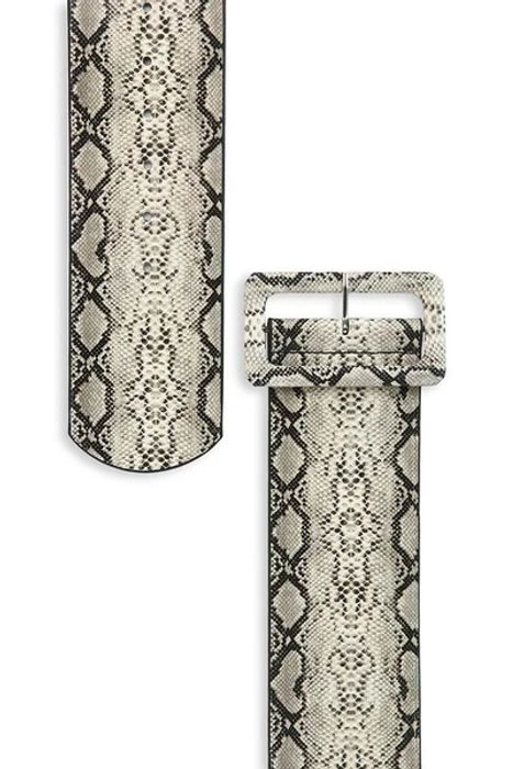 Nude Snake Print Oversized Belt, Only £6.00!