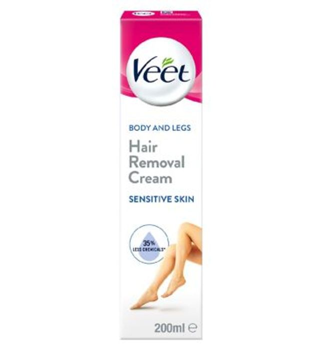 Veet Sensitive Skin Hair Removal Cream Aloe Vera Vitamin E 200ml