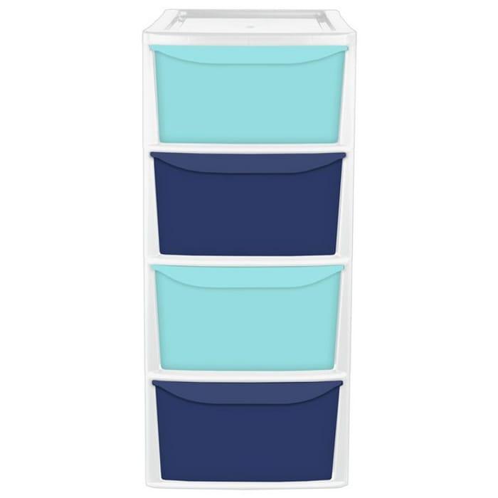 Argos Home Blue 4 Drawer Tower Storage Unit