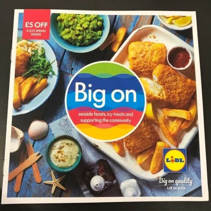£5 off a £25 Spend Valid from 20/07 - 02/08 at Lidl Instore Magazine