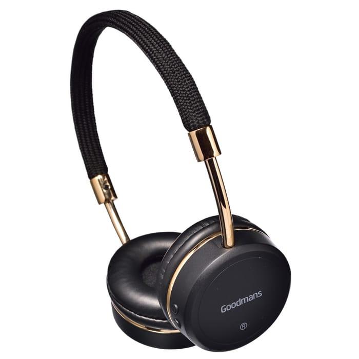 Wireless Bluetooth Headphones Black Goodmans Edge Stereo Headphones
