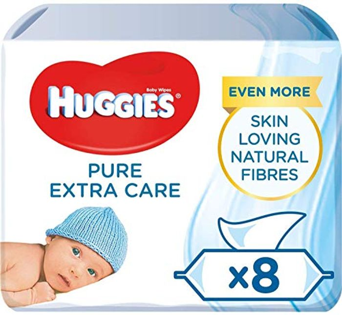 Best Price! Huggies Baby Wipes, Pure Extra Care, 8 Packs (448 Wipes Total)