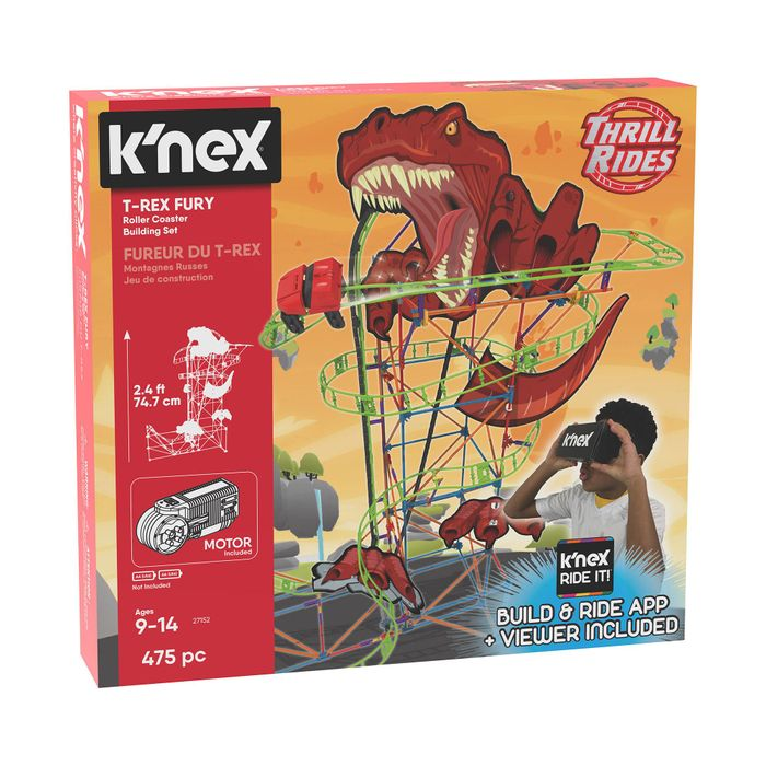 Knex T Rex Roller Coaster Building Set