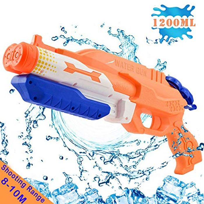 Water Gun with 2 Nozzles, Super Water Pistol Soaker Blaster