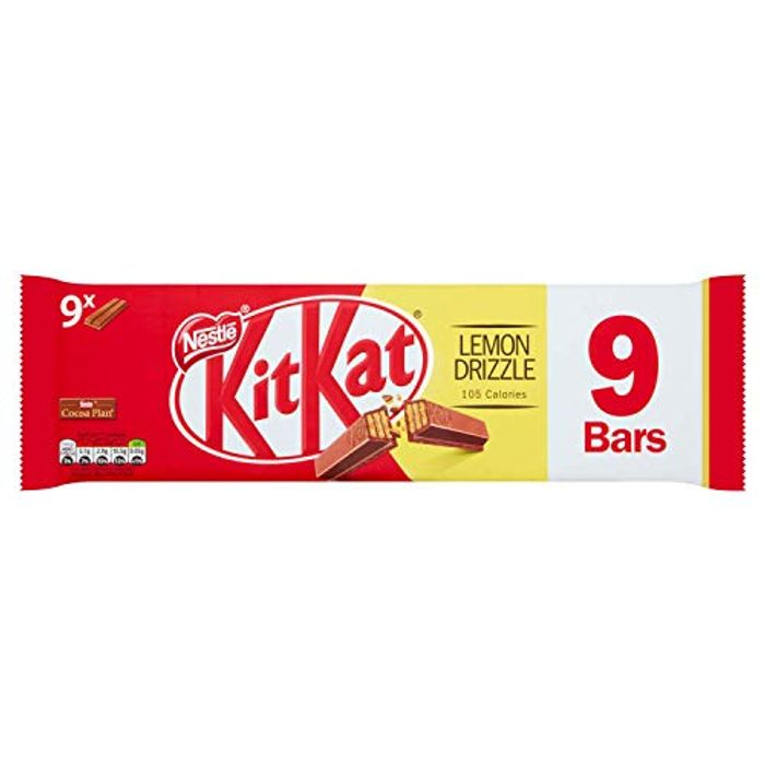 KITKAT 2 Finger Lemon Drizzle Chocolate Biscuit Bar, 9 X 20.7 G