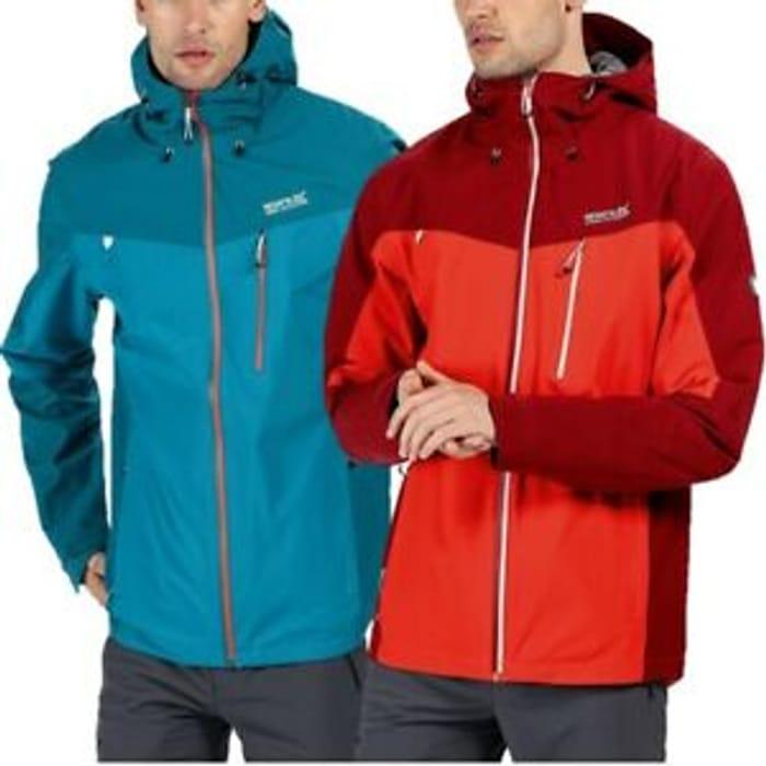 Regatta Mens Birchdale Isotex 10000 Waterproof Jacket Red Green