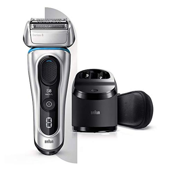 Braun Series 8 8391cc next Generation Electric Shaver Clean and Charge Station