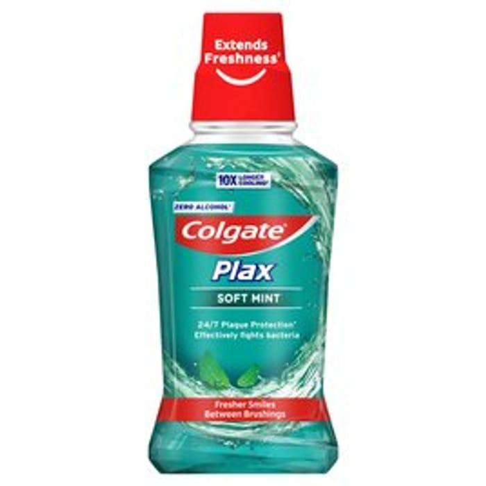 Cheap Colgate Plax Soft Mint Mouthwash 250ml Only £1