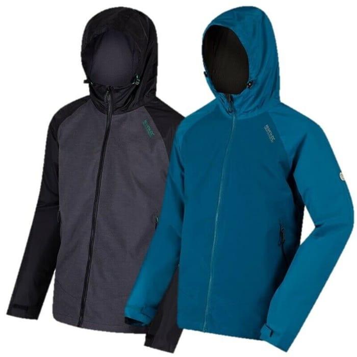 Regatta Mens Alkin Waterproof Breathable Shell Jacket Black or Blue