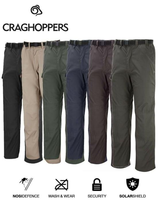 Craghoppers Mens Kiwi Classic Casual Walking Trouser Multi Pockets