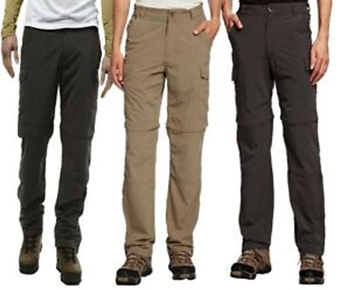 CRAGHOPPERS NOSILIFE CONVERTIBLE MENS TROUSERS 3 Colours