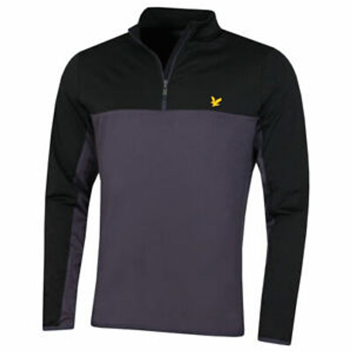 Lyle & Scott Mens 2020 Colour Block Stretch Wicking 1/4 Zip Pullover
