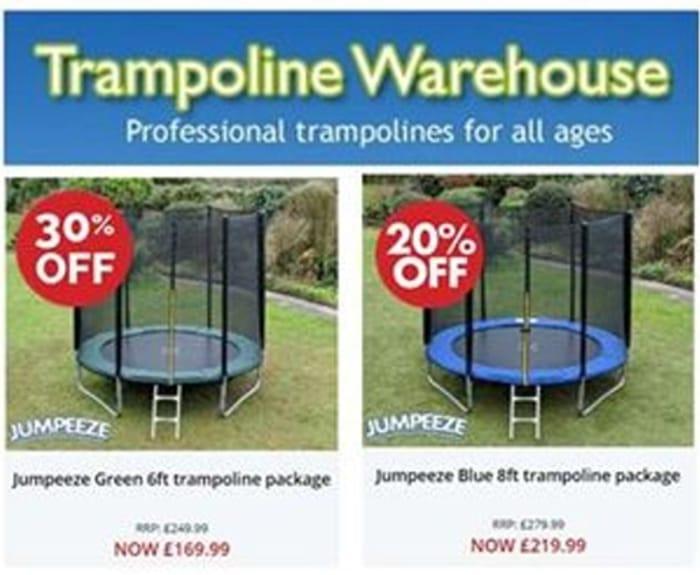 CHEAP TRAMPOLINES! Trampoline Warehouse
