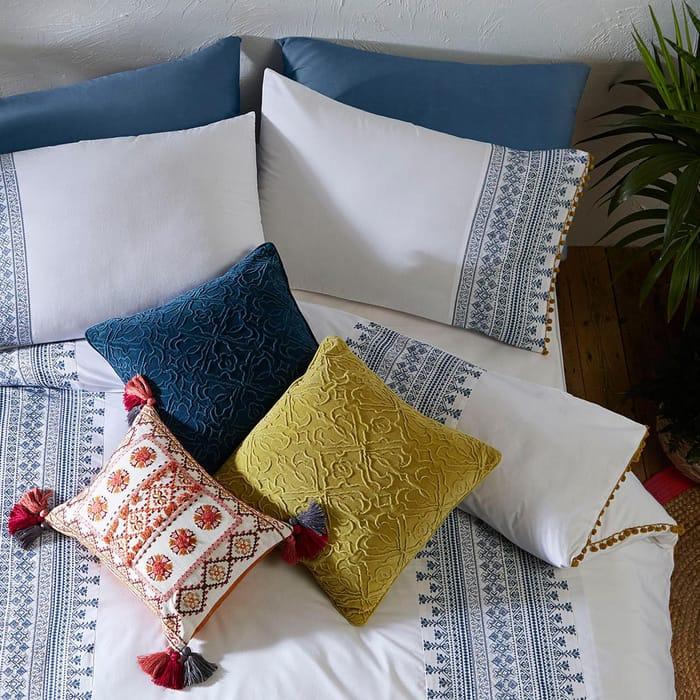 Debenhams - White 'Skye' Embroidery Bedding Set at Debenhams