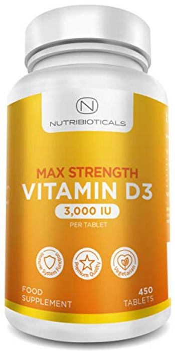 Vitamin D3 Max Strength 3000IU (75g) per Tablet 15 Month Supply (450 Tablets)
