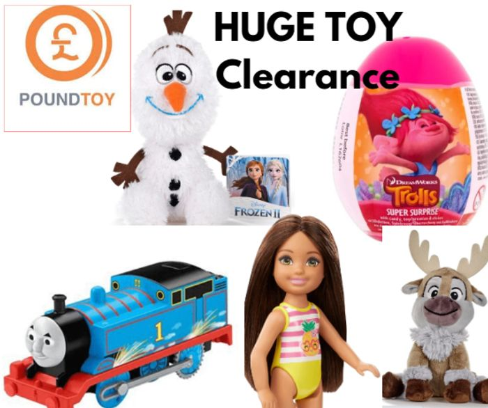 HUGE Toy Clearance - Up To 80% Off + 40% Code + 1p Bargains!