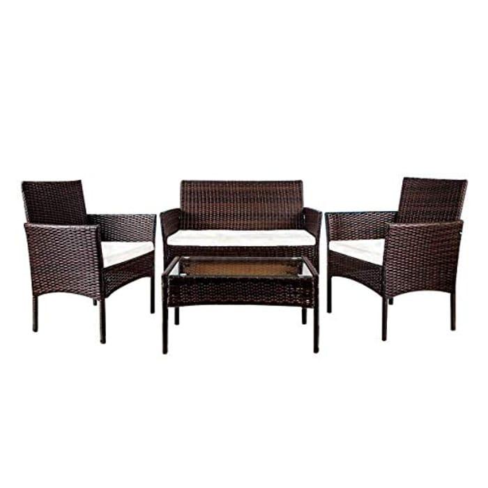 *SAVE over £10* Rattan Garden Furniture Set Patio Indoor ...