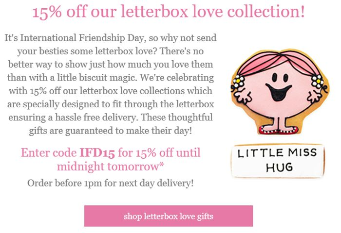 15% off Letterbox Love Collections