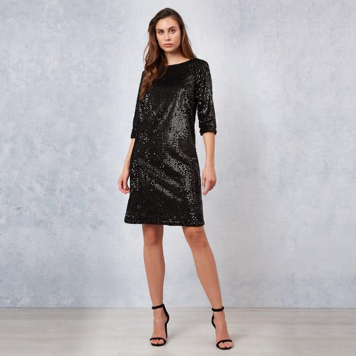 James Lakeland - Black Valore Sequin Dress