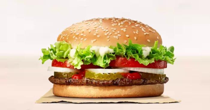 Burger King Whopper, Chicken Royale Or Veggie Bean Burger - £1