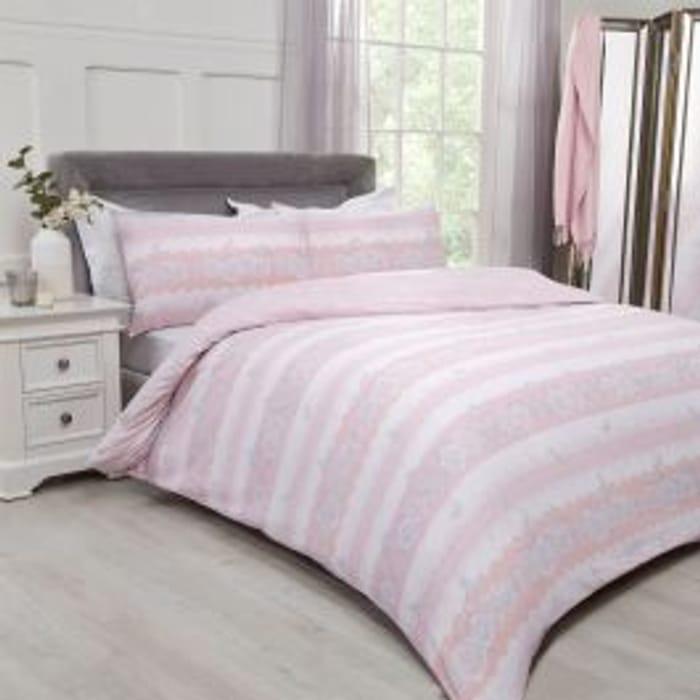 Lace Butterflies Pink Duvet Set - Superking