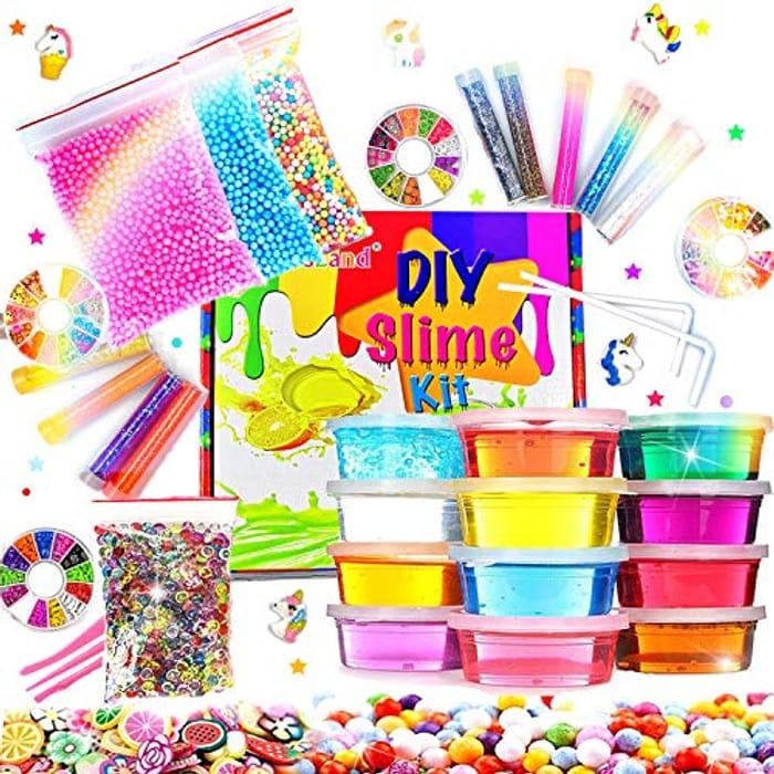 DIY Fluffy Slime Kit Crystal Slime Set